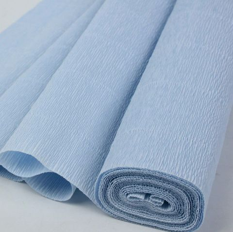 Бумага гофрированная, цвет 959 нежно-голубой, 140г, 50х250 см, Cartotecnica Rossi (Италия)