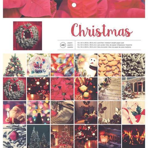Набор односторонней бумаги 30*30 Christmas