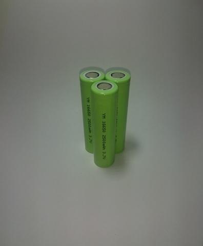 Аккумулятор  16650 Li-ion 2500mAh 3,7V 9,2Wh