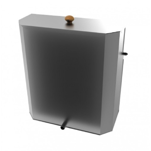 Емкость для банной печи 75л из нерж. стали AISI, приставная