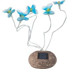 Светильник на солнечной батарее  «Бабочки» , 5 белых LED, синий, CD712B (Feron)