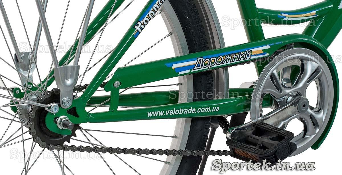 Трансмиссия городского универсального подросткового велосипеда Дорожник Карпаты 2015