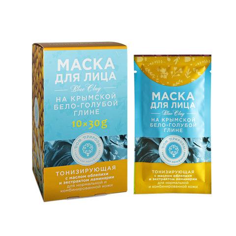 МДП Маска ТОНИЗИРУЮЩАЯ для нормальной и комбинированной кожи на основе Крымской бело-голубой глины (саше пакет 30г)