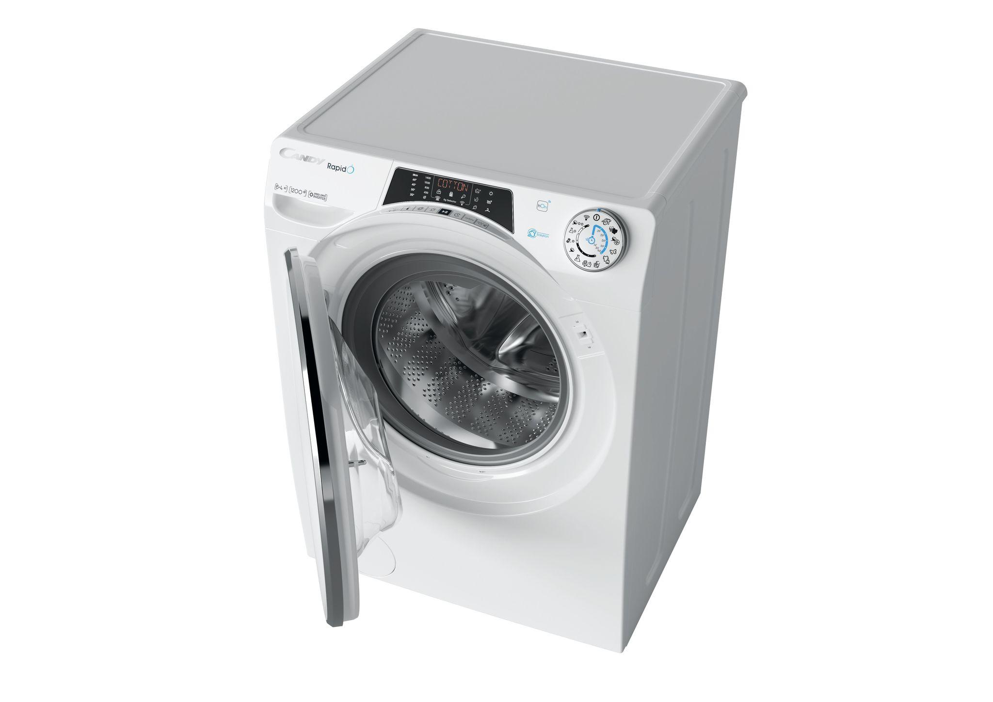 Узкая стиральная машина с сушкой Candy RapidO ROW42646DWMC-07 фото 5