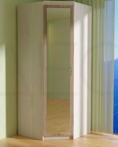 Шкаф угловой ВЕНА с зеркалом левый
