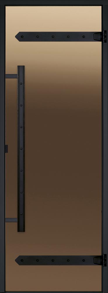 Дверь Harvia Legend STG 9×19 коробка сосна, стекло бронза, фото 1