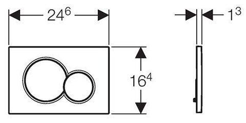 Клавиша смыва Geberit Sigma01 115.770.46.5 матовый хром