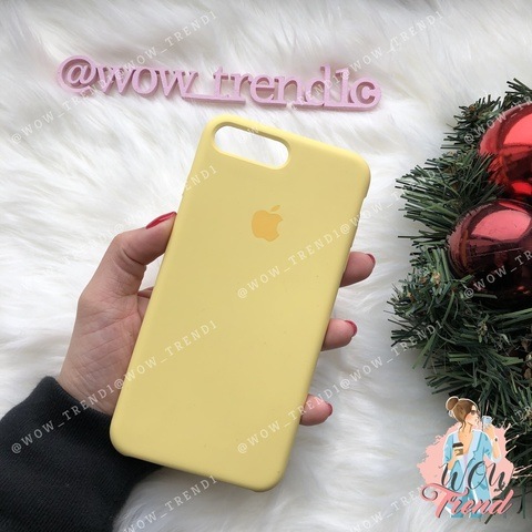 Чехол iPhone 7+/8+ Silicone Case /yellow/ желтый original quality