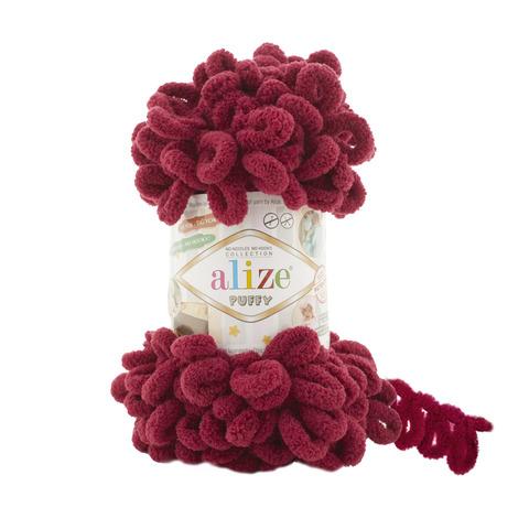 Купить Пряжа Alize Puffy Код цвета 107 Вишня | Интернет-магазин пряжи «Пряха»