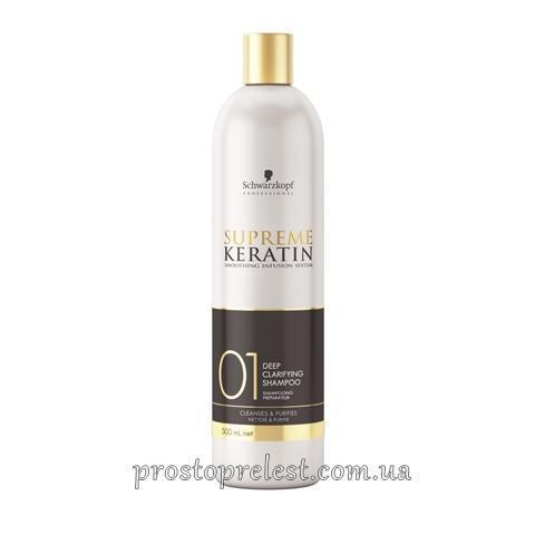 Schwarzkopf Supreme Keratin 01 Deep Clarifying Shampoo - Шампунь для глубокой очистки