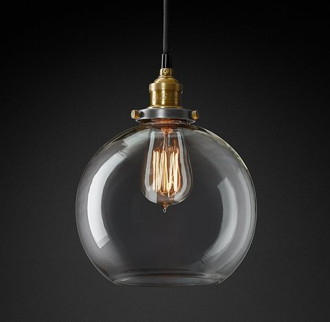 Подвесной светильник копия 20th C. Factory Filament Clear Glass Caf? Pendant by Restoration Hardware