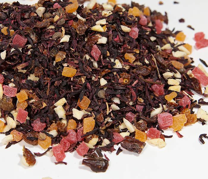 TEA-AR127 Фруктовый красный чай «Бодрящий Пунш» (каркадэ, 50 гр)