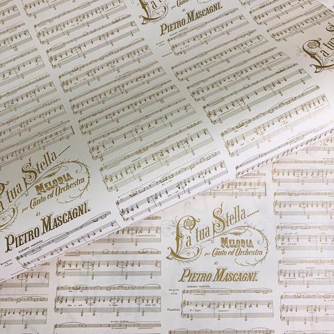 Бумага декоративная подарочная Партитура Масканьи