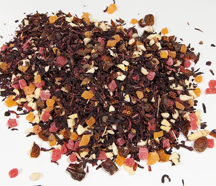 TEA-AR127 Фруктовый красный чай «Бодрящий Пунш» (каркадэ, 50 гр) фото 02