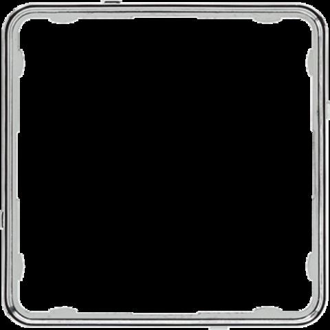 Внутренняя цветная рамка. Цвет Хром. JUNG CD PLUS. CDP81GCR