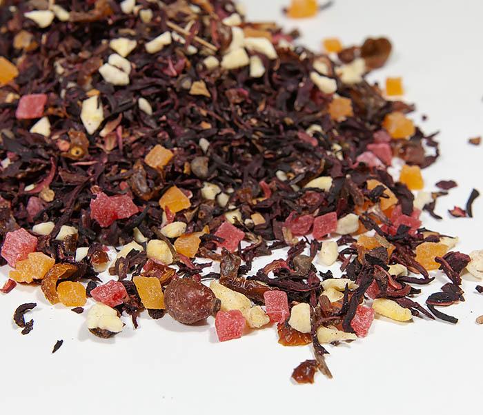 TEA-AR127 Фруктовый красный чай «Бодрящий Пунш» (каркадэ, 50 гр) фото 03