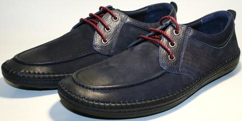 Туфли мокасины мужские кожаные Luciano Bellini