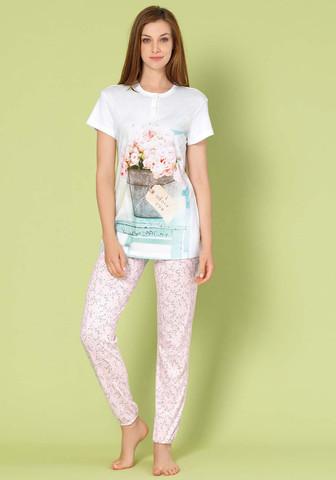 Пижама с коротким рукавом и брюками