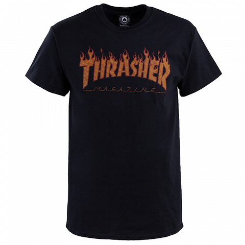 Футболка THRASHER Flame Halftone (Black)