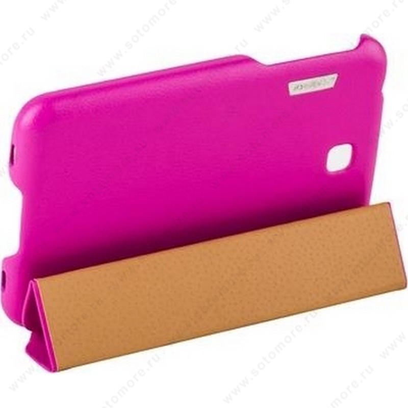 Чехол-книжка Jisoncase Executive для Samsung Galaxy Tab 3 7.0 SM-T2100/ SM-T2110 ярко-розовый JS-S21-03H33