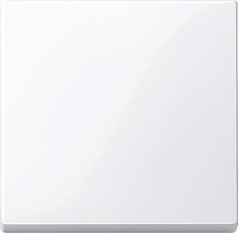 Выключатель одноклавишный проходной. Цвет Активный белый, блестящий. Merten. MTN3116-0000+MTN432125