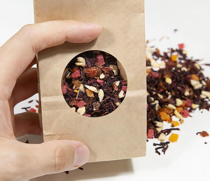 TEA-AR127 Фруктовый красный чай «Бодрящий Пунш» (каркадэ, 50 гр) фото 05