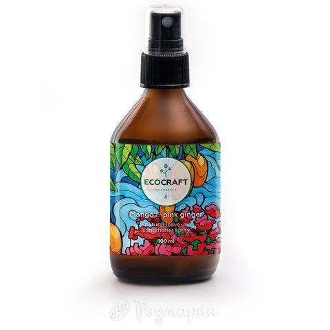 Спрей-кондиционер для роста и против выпадения волос Манго и розовый имбирь, EcoCraft