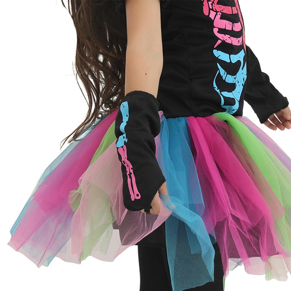 Радужный Скелет костюм для девочки