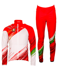 Лыжный разминочный национальный утепленный костюм с символикой РБ Atex ПОД ЗАКАЗ