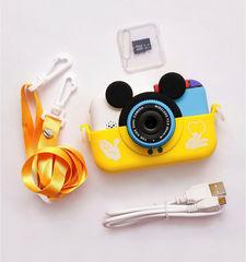 Детский фотоаппарат Микки желтый комплектация