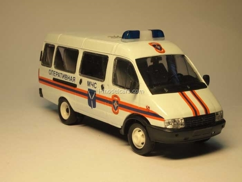 GAZ-3221 Gazelle Ministry of Emergency Situations early facing Agat Mossar Tantal 1:43