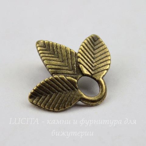 "Коннектор ""Трилистник"" (1-1) 14х13 мм (цвет - античная бронза)"