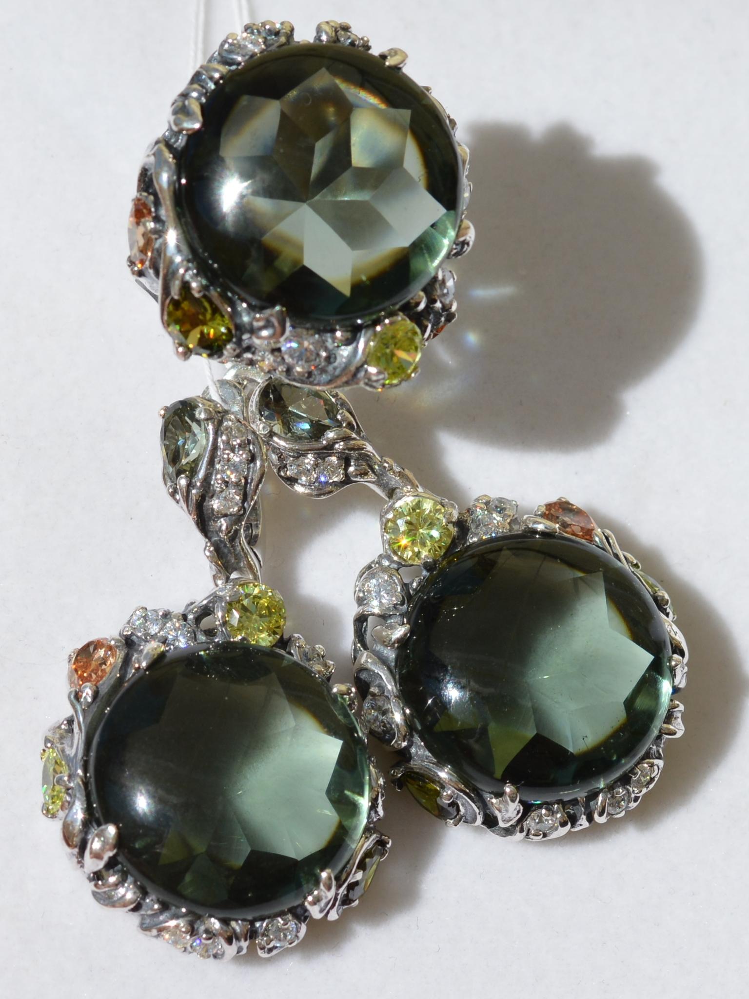 Ирэн (кольцо + серьги из серебра)