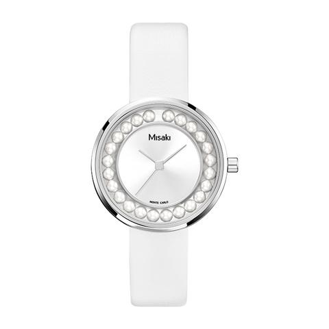 Часы наручные женские на белом ремешке Ella Misaki