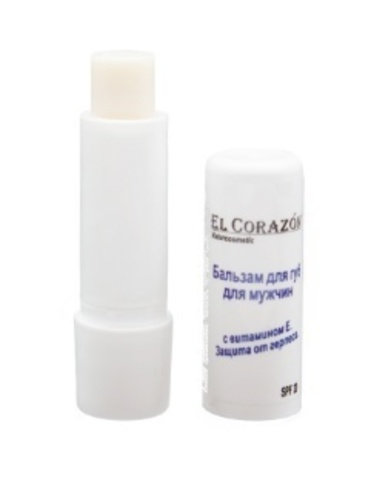 El Corazon Бальзам для губ для Мужчин с витамином Е  SPF 20