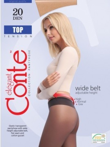 Conte Top Колготки женские 20d, p.2 mocca