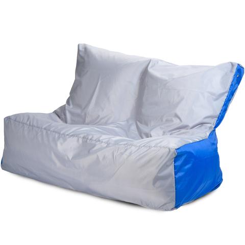 Бескаркасное кресло «Диван», Серый и синий