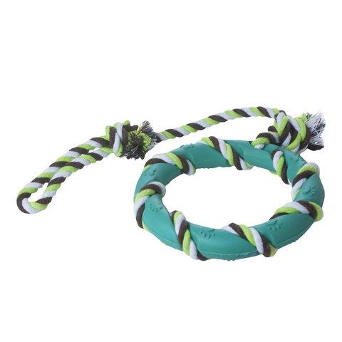 YUGI с резиновым кольцом светло-голубое веревочное 47*14 см