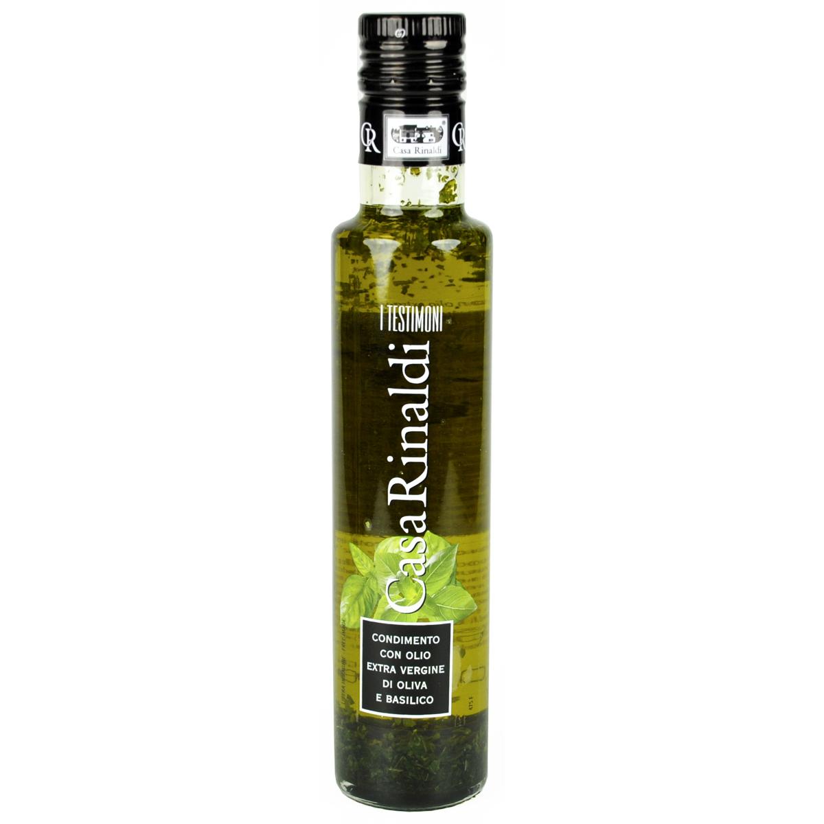 Масло Casa Rinaldi оливковое Extra Vergine с базиликом 250мл