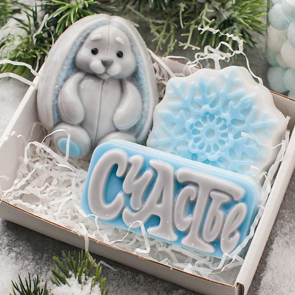 Мыло Снежинка. Форма фигурная пластиковая