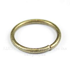 Комплект колечек одинарных 16х1,5 мм (цвет - античная бронза), 20 штук