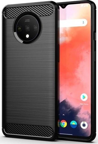 Чехол OnePlus 7T цвет Black (черный), серия Carbon, Caseport