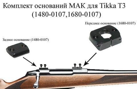 Основание МАК для Tikka T3(1480-0107,1680-0107)
