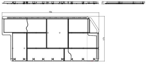 Фасадная панель Альта Профиль Гранит Альпийский 1130х470 мм