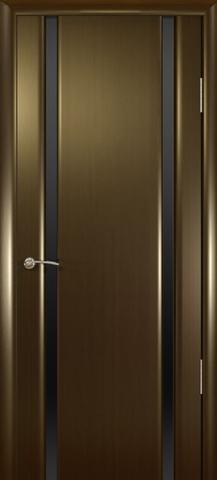 Дверь Шторм-2 стекло тонированное (венге, остекленная шпонированная), фабрика Океан