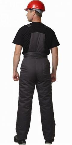 Костюм Темно-серый с серым зимний: куртка брюки