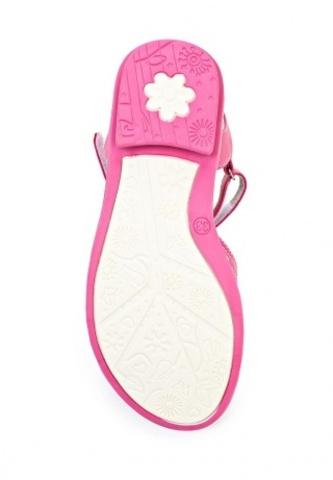 Босоножки Винкс (Winx) на липучках с открытым носком и пяткой для девочек, цвет розовый. Изображение 4 из 8.