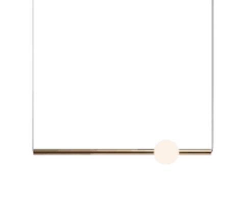 Подвесной светильник копия ORION GLOBE by Lee Broom H90 (горизонтальный, золотой)