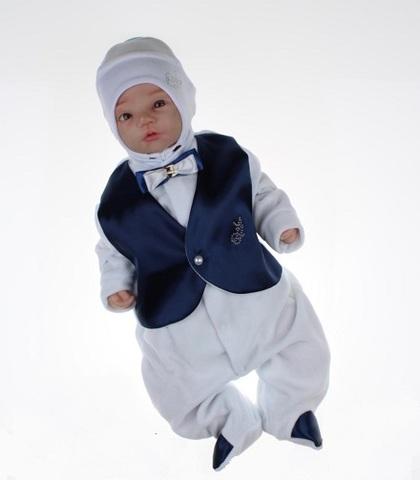 Велюровый костюм на выписку из роддома Trendy море