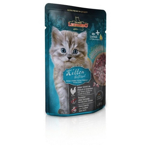 Паучи Leonardo Finest Selection Kitten Poultry